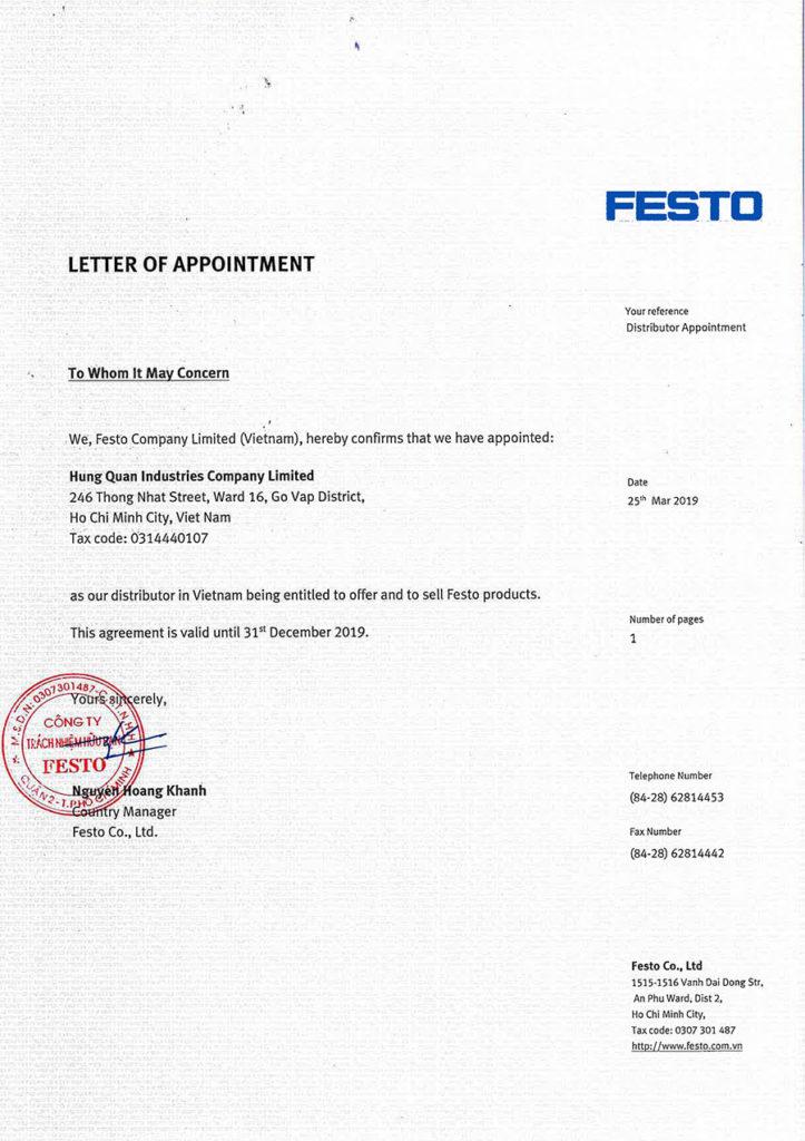 FESTO Authorized Distributor